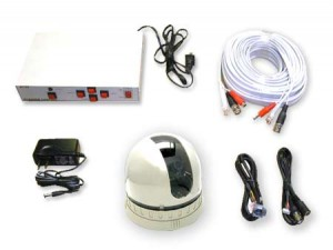 COP-USA CDPT2 Color Pan Tilt CCTV Dome Security Camera Kit