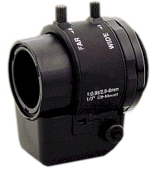 "Rainbow L298AVDC4P 1/3"" 2.9 - 8mm Varifocal AI Low Light CCTV Lens"