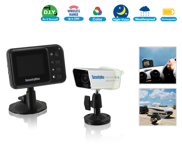 Weatherproof Portable Wireless Rearview Camera System