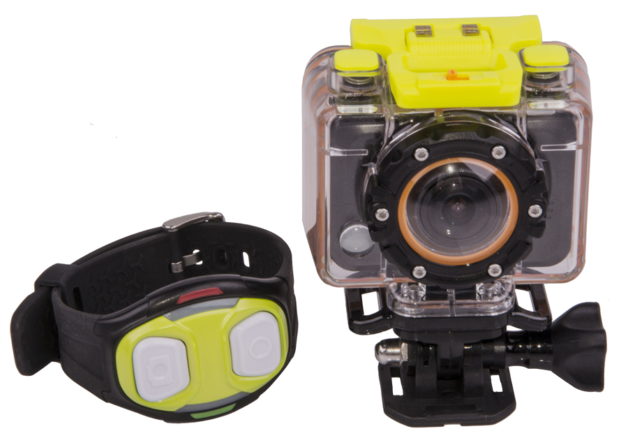 HD 1080P Sports Camera W/ 60M Water Enclosure, HDMI, & Micro SD Support