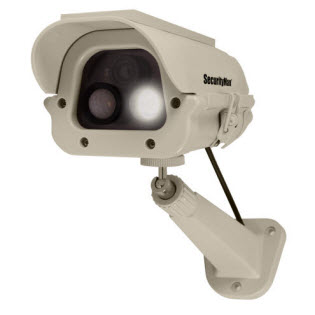 Spotlight Dummy Camera with Solar Panel and PIR Motion Sensor