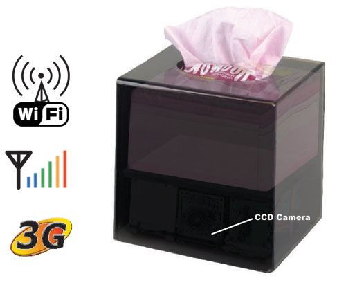 WiFi IP Covert Tissue Box Security Camera