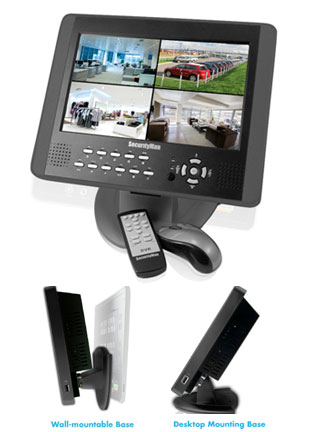 LCD Monitor With Built-In 4 Channel DVR