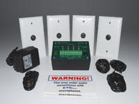 4 Zone Audio Surveillance Kit W/ SM1 Microphones, SMI4 Interface Box, and Accessories